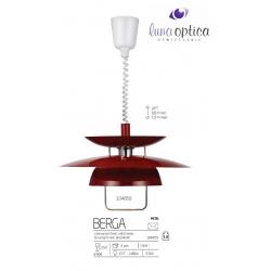 BERGA MARKSLOJD 104859 LAMPA WISZĄCA CZERWONA