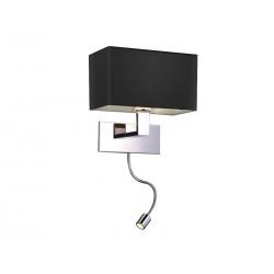 MARTENS KINKIET LED MB2251-B-LED-R CZARNY/CHROM AZZARDO
