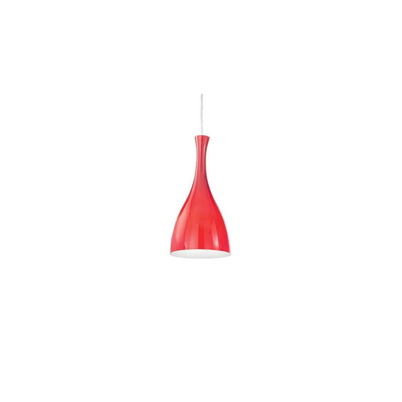 OLIMPIA SP1 013251 CZERWONA - IDEAL LUX - LAMPA WŁOSKA WISZĄCA