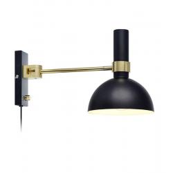LARRY 106970 LAMPA KINKIET MARKSLOJD Czarny/Złoty Szczotkowany