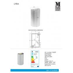 LYRA 106529 KINKIET ogrodowy MARKSLOJD LED