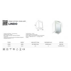 LAMPA NATYNKOWA Oprawa sufitowa LINDO KRLO KOBI GIPS