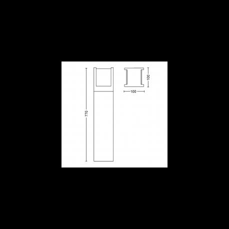 FUZO 17448/30/P7 1744830P7 2700K 15W LAMPA ZEWNĘTRZNA STOJĄCA PHILIPS HUE