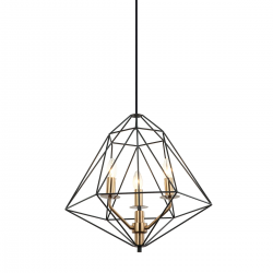 MARESMO - LAMPA WISZĄCA  PEN-6369-3-BKBR  ITALUX