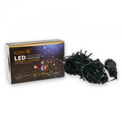 KCHK100GM  LAMPKI CHOINKOWE KOLOROWE LED Z PROGRAMATOREM IP44  KOBI  5902846017875