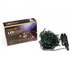 KCHK100M  LAMPKI CHOINKOWE KOLOROWE LED Z PROGRAMATOREM IP44  KOBI  5902846018094